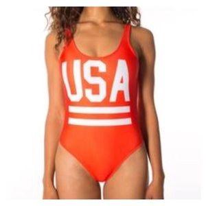 Chubbies USA One Piece Swimsuit Sz S